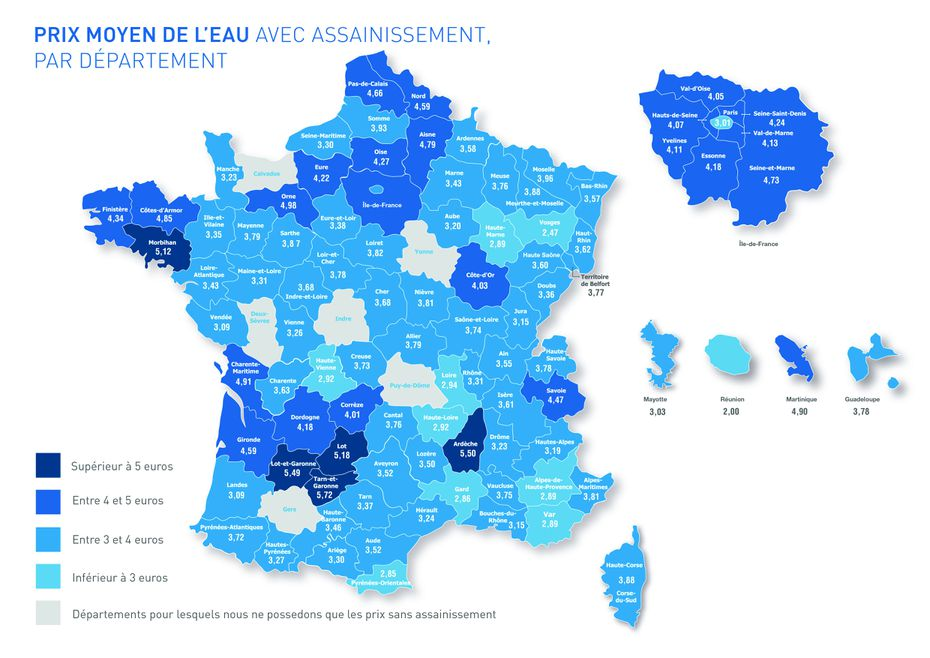 Prix eau France